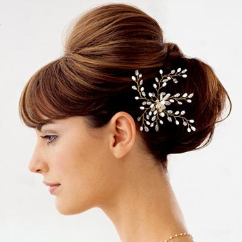 Bridal hair flowers Wedding hair accessories Pin large flowers